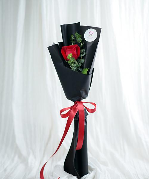 ช่อดอกกุหลาบแดง1 ดอก