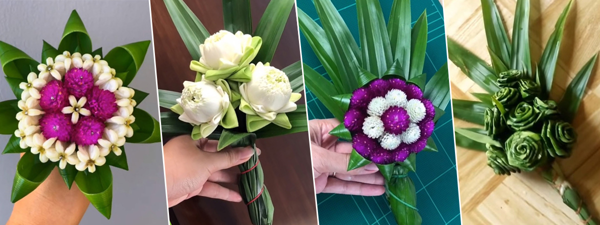 จัดดอกไม้ไหว้พระ สบายใจ ได้บุญ